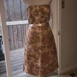 Stunning Silk Blend Tea Length Dress Size 12